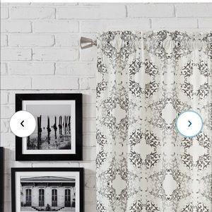 Liza Abstract Semi-Sheer Rod Pocket Curtains